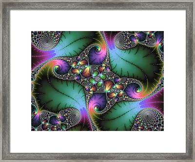 Fractal Art With Jewel Colors Horizontal Framed Print by Matthias Hauser