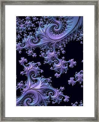 Fractal Nouveau Framed Print by Susan Maxwell Schmidt