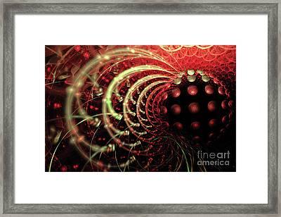 Fractal Solar Flare Framed Print by Ann Garrett