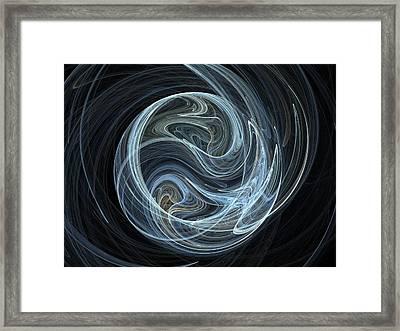 Fractal Ying Yang Framed Print by Jaroslaw Grudzinski