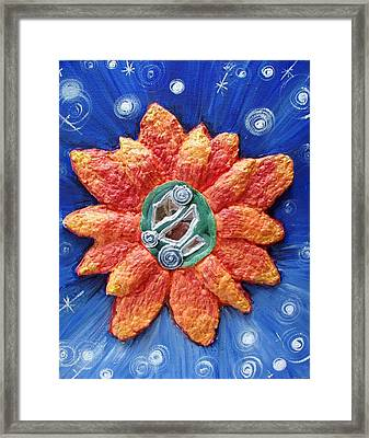 Fragrant Planet Framed Print by Catt Kyriacou