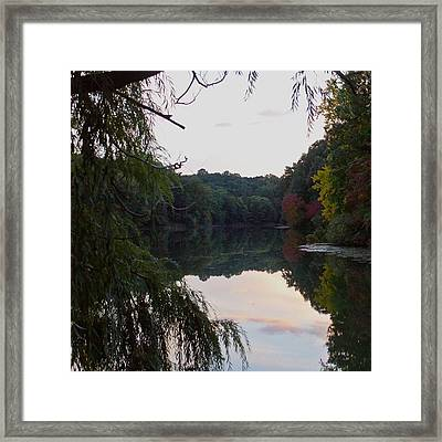 Framed Lake Reflection  Framed Print by Justin Connor