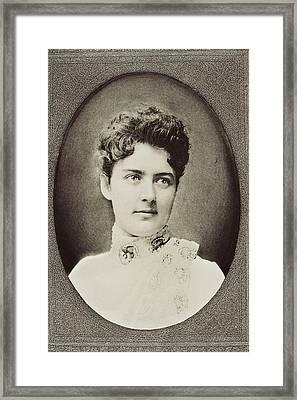 Frances Clara Folsom Cleveland Preston Framed Print by Vintage Design Pics