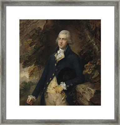 Francis Bassett Lord De Dunstanville And Bassett Framed Print by Thomas Gainsborough