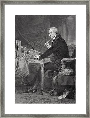 Francis Hopkinson 1737-1791. American Framed Print by Vintage Design Pics