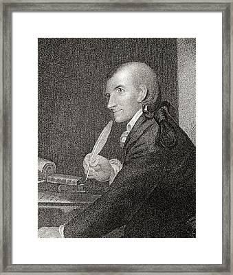 Francis Hopkinson 1737 To 1791 American Framed Print by Vintage Design Pics