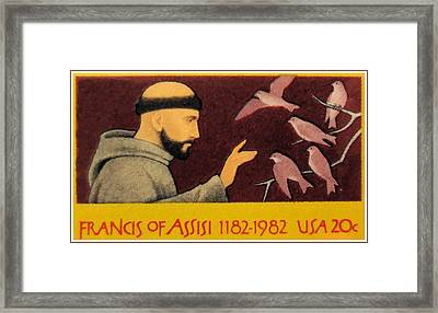Francis Of Assisi Framed Print by Lanjee Chee