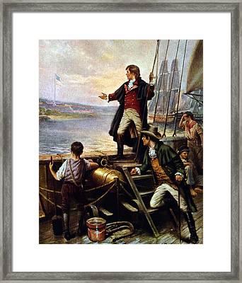 Francis Scott Key, 1779-1843 Awakes Framed Print by Everett