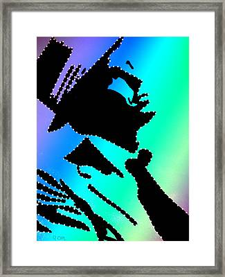 Frank Sinatra In Living Color Framed Print by Robert Margetts