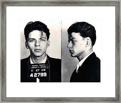 Frank Sinatra Mug Shot Horizontal Framed Print by Tony Rubino