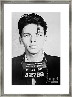 Frank Sinatra Mugshot Framed Print by Jon Neidert