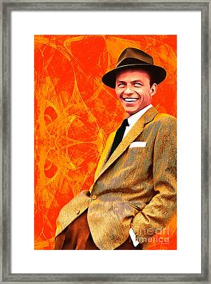 Frank Sinatra Old Blue Eyes 20160922 Framed Print by Wingsdomain Art and Photography