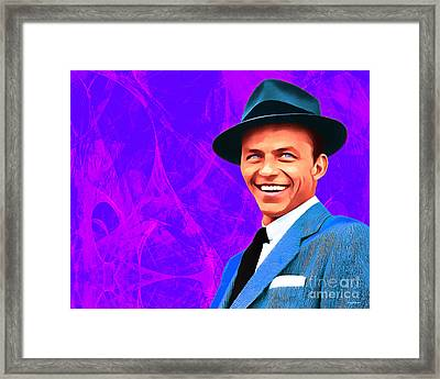 Frank Sinatra Old Blue Eyes 20160922hor V3 Framed Print by Wingsdomain Art and Photography