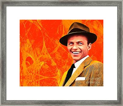 Frank Sinatra Old Blue Eyes 20160922hor Framed Print by Wingsdomain Art and Photography