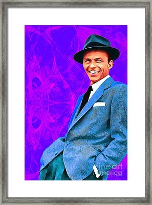 Frank Sinatra Old Blue Eyes 20160922v3 Framed Print by Wingsdomain Art and Photography