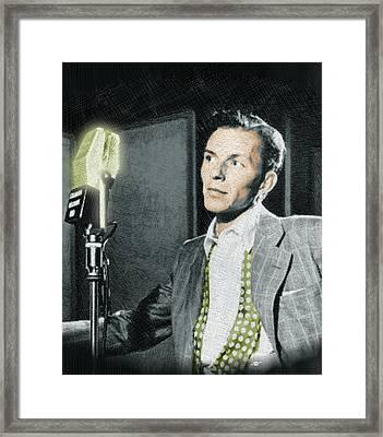 Frank Sinatra Framed Print by Tony Rubino