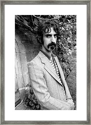 Frank Zappa 1970 Framed Print by Chris Walter