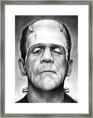 Frankenstein Framed Print by Greg Joens