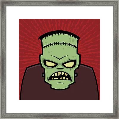 Frankenstein Monster Framed Print by John Schwegel
