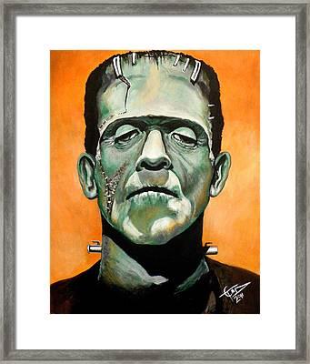 Frankenstein Framed Print by Tom Carlton