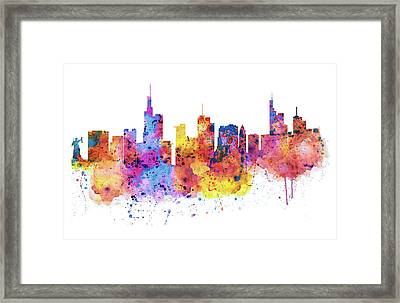Frankfurt Skyline Framed Print by Marian Voicu