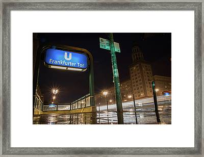 Frankfurter Tor U-bahn Framed Print by Hunter Bliss