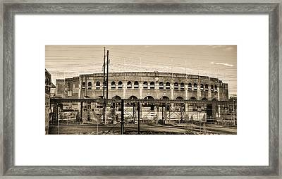 Franklin Field In Sepia Framed Print by Bill Cannon