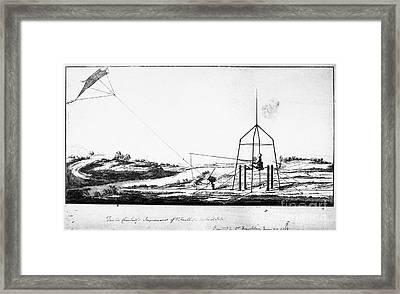 Franklin: Kite, 1788 Framed Print by Granger