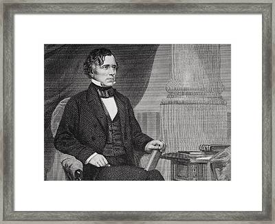 Franklin Pierce 1804 To 1869. 14th Framed Print by Vintage Design Pics