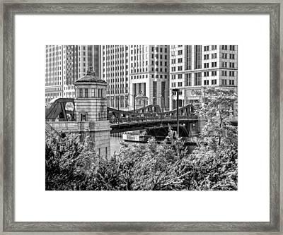 Franklin Street Bridge Black And White Framed Print by Christopher Arndt