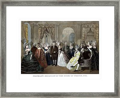 Franklin's Reception At The Court Of France Framed Print by War Is Hell Store