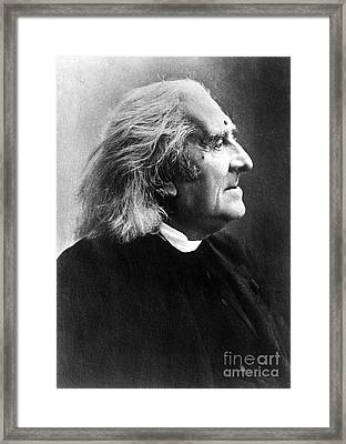 Franz Liszt, Hungarian Composeir Framed Print by Science Source