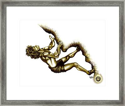 Fred Bronzed Framed Print by Rick Ritchie