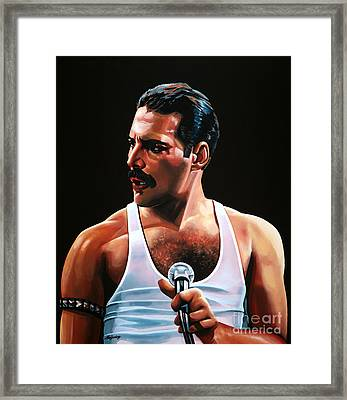 Freddie Mercury Framed Print by Paul Meijering