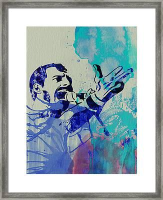 Freddie Mercury Queen Framed Print by Naxart Studio
