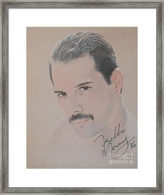 Freddie Mercury Signed  Framed Print by John Sterling