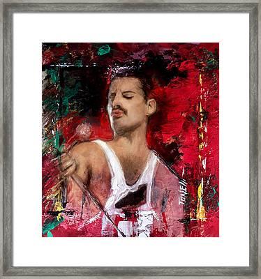 Freddie Murcury Framed Print by Mark Tonelli