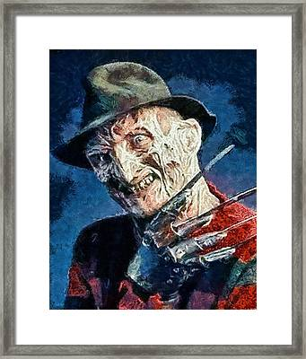 Freddy Kruegar Framed Print by Joe Misrasi