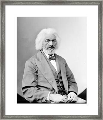 Frederick Douglass 1818-1895, African Framed Print by Everett