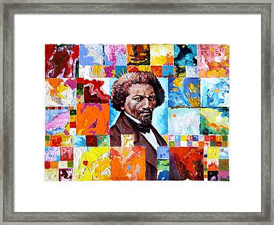 Frederick Douglass Framed Print by John Lautermilch
