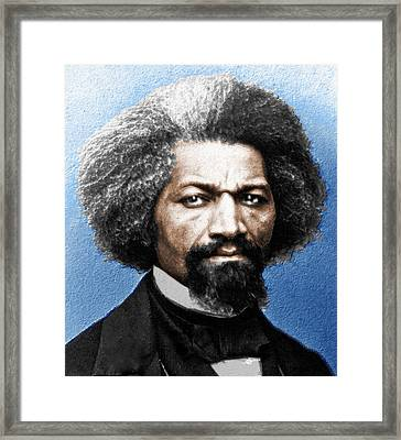 Frederick Douglass Painting In Color  Framed Print by Tony Rubino