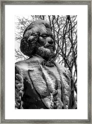 Frederick Douglass Statue Ny Historical Society Framed Print by Robert Ullmann