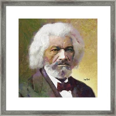 Frederick Douglass Framed Print by Wayne Pascall