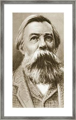 Frederick Engels Framed Print by German School