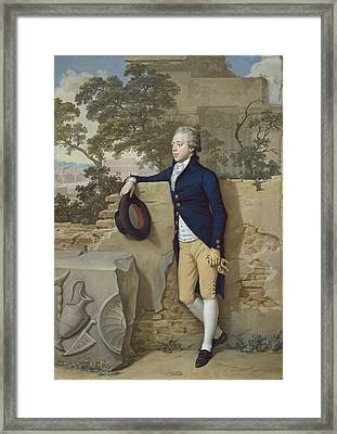 Frederick North - Later Fifth Earl Of Guilford - In Rome Framed Print by Hugh Douglas Hamilton