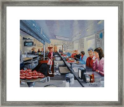 Fred's Breakfast Of New Hope Framed Print by Cindy Roesinger