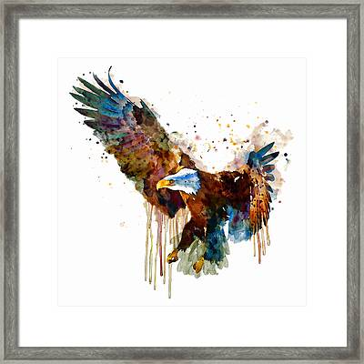 Free And Deadly Eagle Framed Print by Marian Voicu