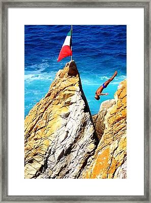 Free Falling Framed Print by Karen Wiles
