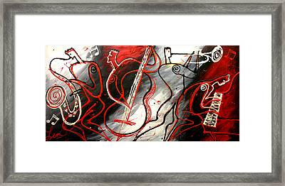 Free Jazz Framed Print by Leon Zernitsky