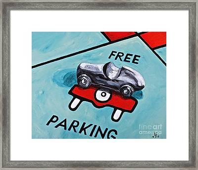 Free Parking Framed Print by Herschel Fall